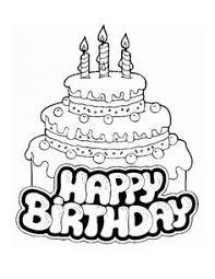 Black And White Birthday Cake Clip Art 12