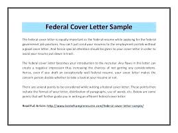 Sample Resume For Government Application And Federal Cover Letter