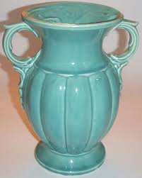 McCoy Pottery Green Vase