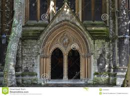 100 Kensington Church London Entrance St Mary Abbots Anglican Stock Photo Image