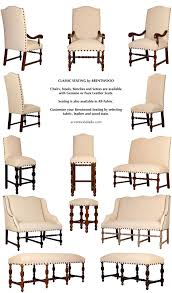 Western Leather Dining Chairs Brentwood Classic