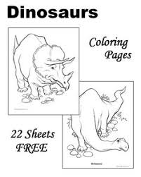 Free Dinosaur Coloring Pages Make Books For Each Of The Guests