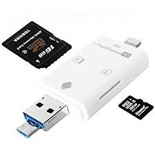 Amazon Lightning Flash USB SDHC Micro SD OTG Card Reader for
