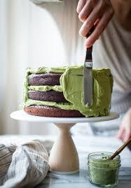 Chocolate Zucchini Layer Cake With Matcha Cream Cheese Frosting
