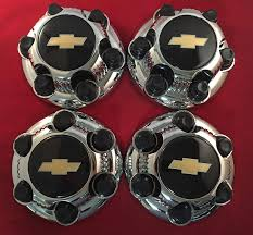 100 Chevy Truck Center Caps Amazoncom 4 Piece SET Chrome Silverado 6 Lug 1500
