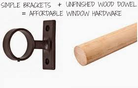 Restoration Hardware Curtain Rod Brackets by Bargain Curtain Rods Simple Hardware Wood Poles Rosa Beltran