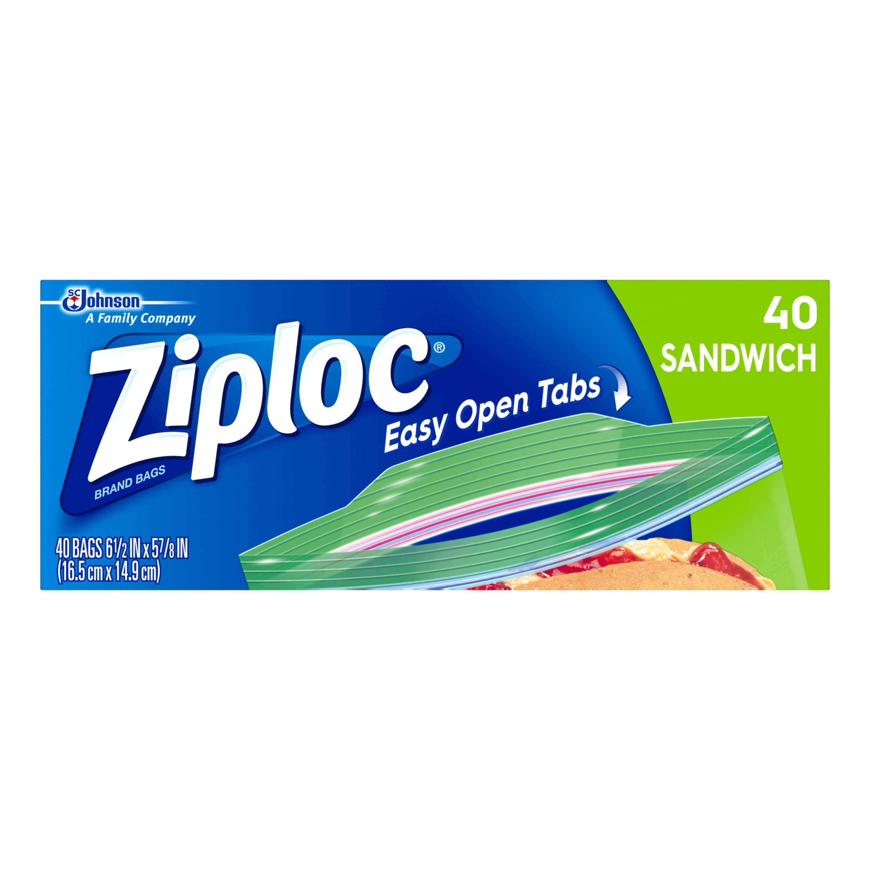 SC Johnson Ziploc Sandwich Bags - 40ct