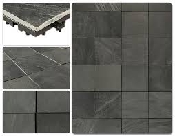 kontiki interlocking deck tiles elements earth series slate 12
