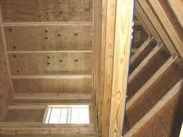 Floor Joist Spacing Shed by Storage Shed Plans With Loft Loft Flooring Home Loft Flooring