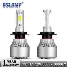 osl h7 cob led car headlights bulb kit 72w 8000lm auto front