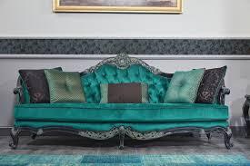casa padrino luxus barock chesterfield sofa grün schwarz gold 240 x 88 x h 105 cm wohnzimmermöbel im barockstil barockgroßhandel de