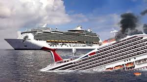 shelling from royal caribbean s m s allure sinks carnival
