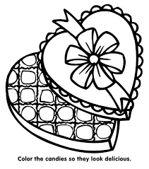 Valentines Candy Coloring Page