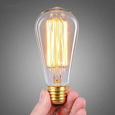 stg vintage edison bulb dimmable antique light bulb 60w edison