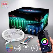 b k licht led streifen 150 flammig 5m smart home led band dimmbar mit wifi app steuerung