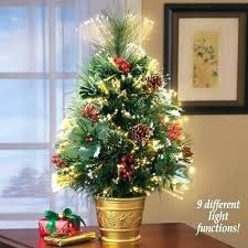 Fiber Optic Trees Multi Colour With Bauble Star Decorations Fibre Tree Rotating 3ft