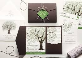 Grandfather Oak Tree Wedding Invitations Rustic