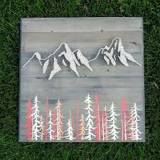 Mountain Range String Art Home Decor