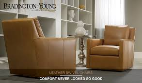 Bradington Young Leather Sectional Sofa by Bradington Young