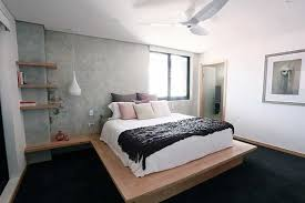 Opposite The Bed Is Another Cement Rendered Wall Which Features A Framed Mirror Television And Timber Shelf That Wowed Judges
