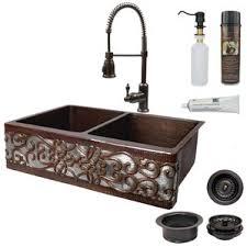 33x22 Copper Kitchen Sink by Bronze Kitchen Sinks You U0027ll Love Wayfair