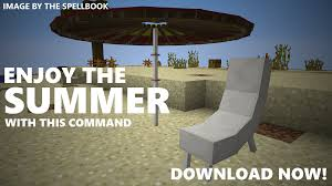 summer decorations command block 1 10 2 1 9 4 mod minecraft net