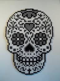 Halloween Hama Bead Patterns by Sugar Skull Perler Bead Pattern Perler Hama Pyssla Nabbi