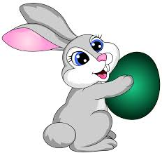 Easter Bunny with Egg Transparent PNG Clip Art Image