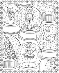 Snow Globes Free Coloring Page Vitelli Lucas Publications