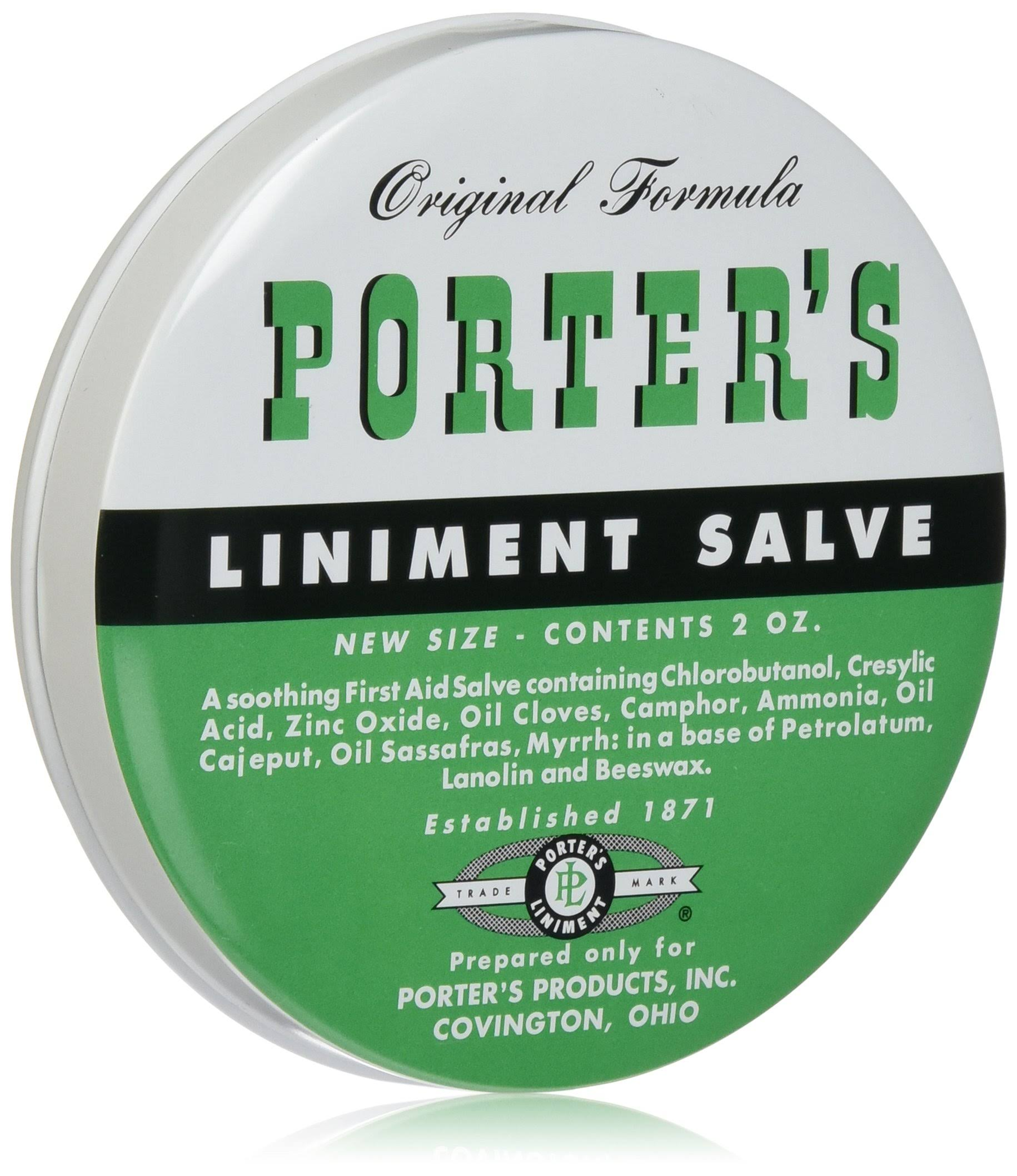 Orginal Formula Porter's Liniment Salve - 2oz