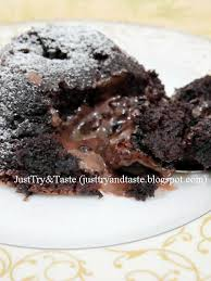 resep molten chocolate cake just try taste