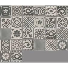 carreau de ciment sol et mur gris foncé et clair patchwork l 20 x