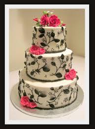 Black White & Red Birthday Cake on Cake Central