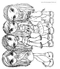 Bratz Color Page Coloring Pages For Kids Cartoon Characters