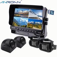 100 Backup Camera System For Trucks 9 DVR Recorder Quad Split Monitor Car Rear View