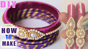 How To Make Silk Thread Zardosi Bangles At Home Step By