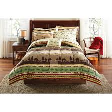 Bed Comforter Set by Mainstays Gone Fishing Bed In A Bag Coordinated Bedding Set