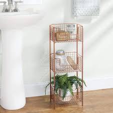 rostfreies badezimmer regal mit drei körben für handtücher