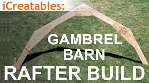 Free 10x12 Gambrel Shed Plans by Gambrel Barn Rafter Build Learn How To Build A Barn Roof Youtube