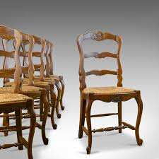 Set Of Six Antique Kitchen Chairs, French Country Dining C ... Refinished Painted Vintage 1960s Thomasville Ding Table Antique Set Of 6 Chairs French Country Kitchen Oak Of Six C Home Styles Countryside Rubbed White Chair The Awesome And Also Interesting Antique French Provincial Fniture Attractive For Eight Cane Back Ding Set Joeabrahamco Breathtaking