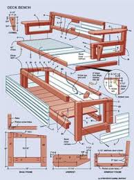 deck storage bench plans free build wood bench seat diy ideas