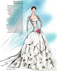 Indian Wedding Dress Sketch