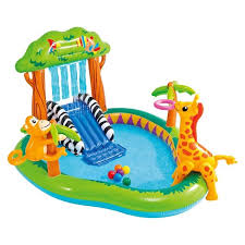 Intex 85 X 74 49 Jungle Play Center Inflatable Pool With Sprayer