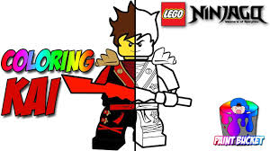 LEGO Ninjago Kai The Red Ninja Coloring Page