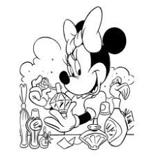 Minnie Mouse Loves Perfume And Daisy Duck Printable Coloring Page