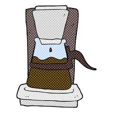 Freehand Drawn Cartoon Drip Filter Coffee Maker Illustration