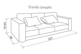 largeur canapé quelle taille pour mon canapé côté maison
