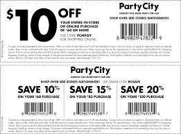 Printable Coupons Party City 2019
