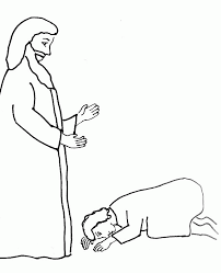 Jesus Heals Ten Lepers Coloring Page