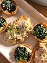 pate canapes caviar smoked mackerel pate canapés the secret supper society